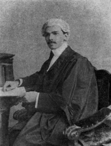 M. A. Jinnah in barrister's robes